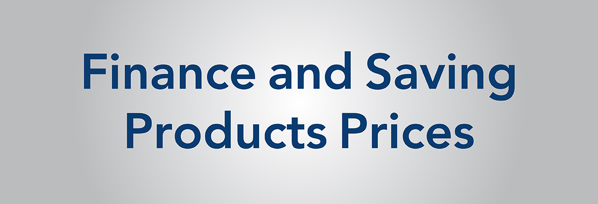 Finance Products Prices